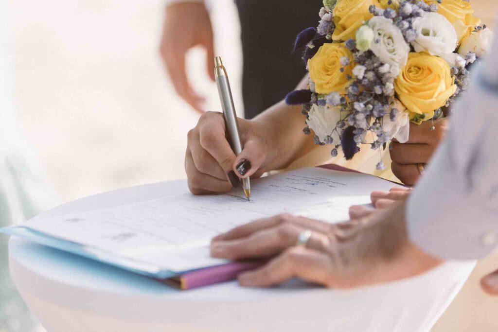 standesamtliche Hochzeitszeremonie