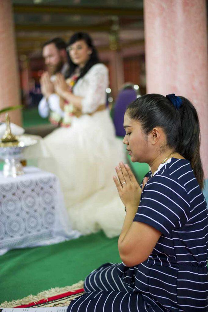Tempel Hochzeit in Thailand