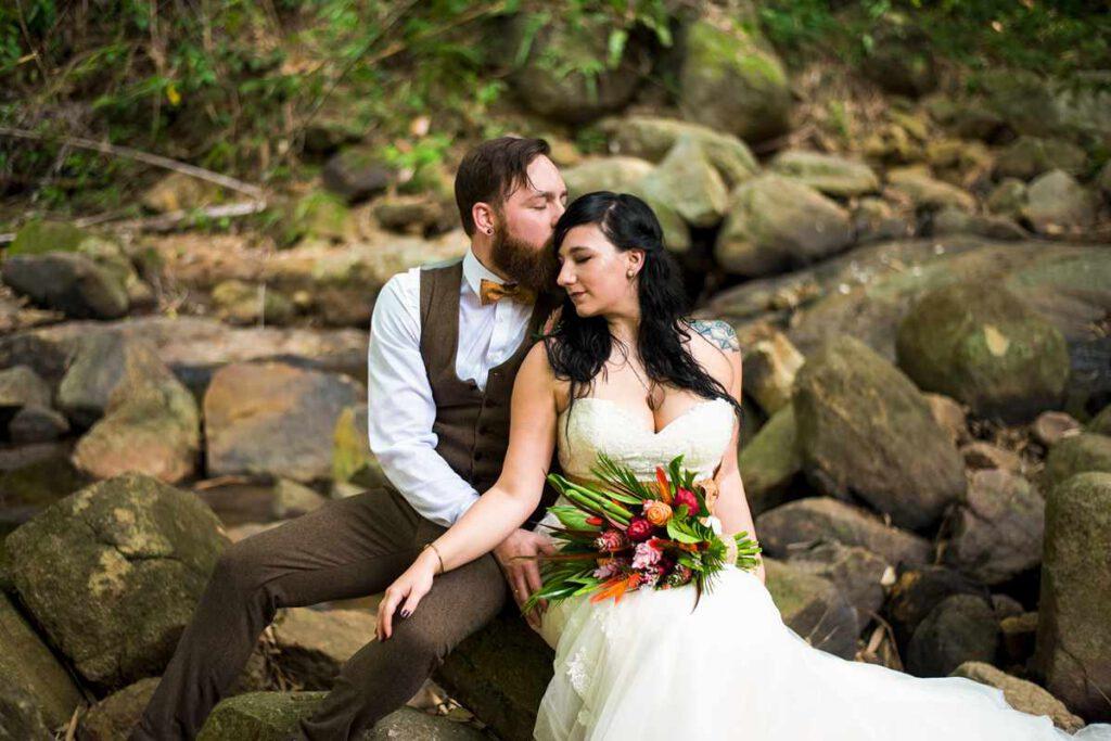 Hochzeit in Thailand Wasserfall