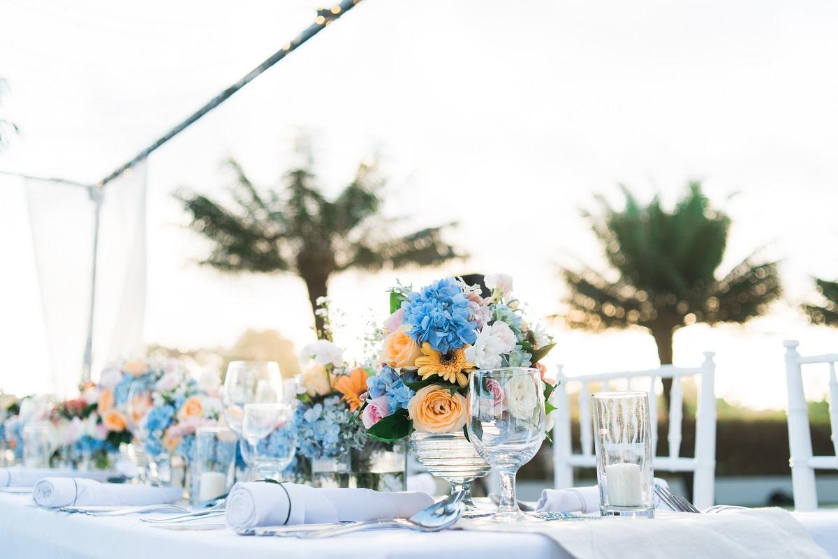 moderne Hochzeitsdekoration in Bali