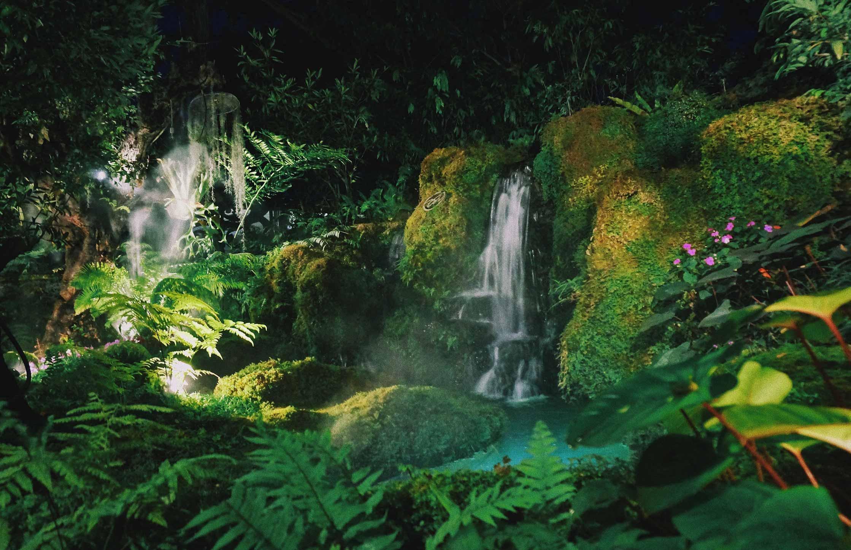 versteckter Wasserfall im Dschungel Thailands